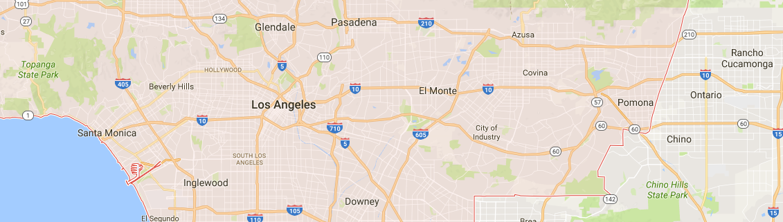 Los Angeles Map of Cities
