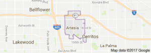 Artesia map