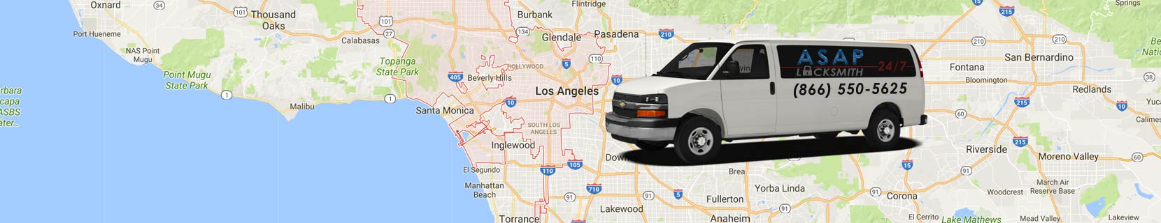 Los Angeles Map and Van