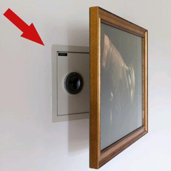 Safe Installation Behind Photo